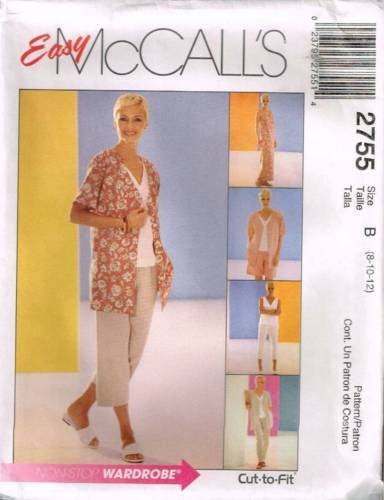 *2755 Sewing Pattern McCall's Ladies Shirt Top Pants Dress 8 10 12 or 12 14 16