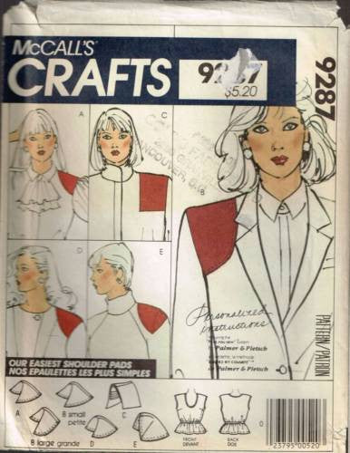 9287 Sewing Pattern McCall's Shoulder Pads Camisole  with Shoulder Pads