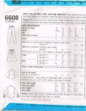 6608 Sewing Pattern Girls Skirt Pants Shirt Vest 4 5 6