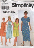 8035 Sewing Pattern Ladies Easy to Sew Summer Dress 6 8 10