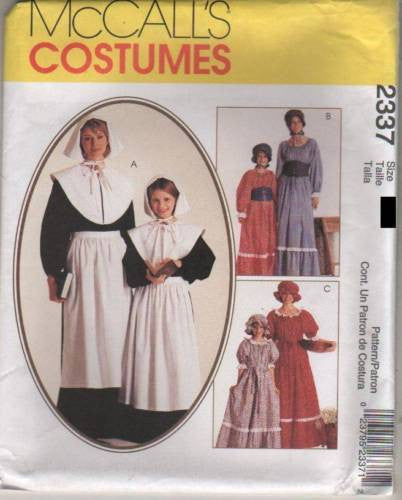 *2337 Sewing Pattern McCall's Costume Girls Pilgrim Pioneer Quaker 7-8