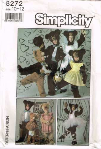 8272 Sew Pattern Kids Costume Clothes for the Bear (Does not include Bear) 10-12