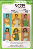 9035 Sewing Pattern Vintage Ladies Tank Top 8 10 12