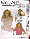 7516 Sewing Pattern Vintage McCall's Blouse 10