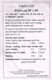 "6579 Sewing Pattern ""Something Fishy"" Quilt with Fish 28"" X 29"" or 44"" X 47"""