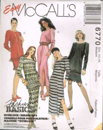 6770 Sewing Pattern Ladies Dress Tunic Top and Skirt Medium 12-14