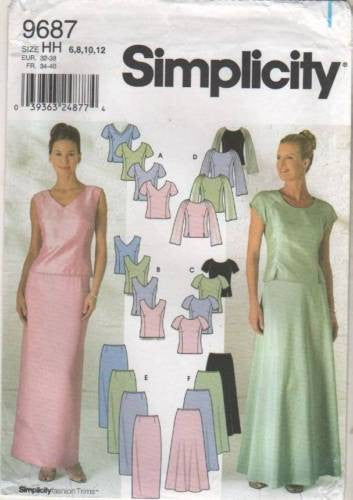 9687 Sewing Pattern Ladies Wedding Bridal Grad Prom Tops Skirts 6 8 10 12