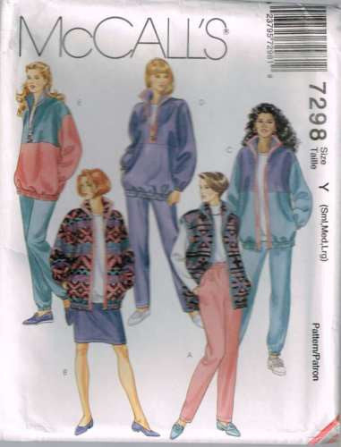 7298 Sewing Pattern McCall's Ladies Jacket Vest Pants Skirt S M L