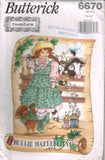 6670 Sewing Pattern Girls Mollie Makebelieve Dress Pinafore 7 8 10
