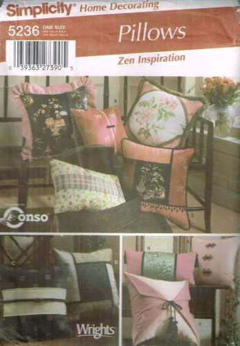*5236 Sewing Pattern Pillows Cushions Pillow Cushion