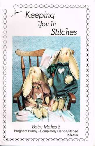 3506 Sewing Pattern Keeping You in Stitches Bunny Rabbit Rabbits 21""
