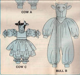"*0304 / 4275 Sewing Pattern McCall's ""Country Cows"" with Clothes in 2 Sizes +"
