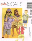 *2743 Sewing Pattern McCall's Kids Unisex Summer Outfits 4 5 6