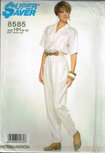 8585 Sewing Pattern Vintage Loose Fitting Jumpsuit 6 8 10 12