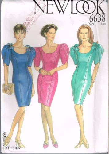 6638 Sewing Pattern New Look Ladies Fitted Princess Seam Dress 8 10 12 14 16 18