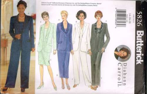 5826 Sewing Pattern Butterick Ladies Jacket Pants Skirt by Diahann Carroll 14 16