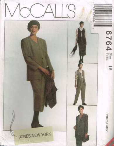 "6764 Sewing Pattern McCall's Ladies ""Jones New York""  Jacket Vest Skirt Pants 16"