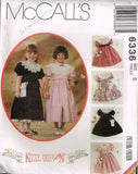 "6336 Sew Pattern McCall's Girls Fancy Party Dress Large Collar ""Kitty Benton"" 5"