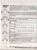 9027 Sewing Pattern Vintage Ladies Shirt / Blouse 10 12 14