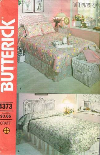 4373 Sewing Pattern Butterick Bed Covering Dust Ruffle