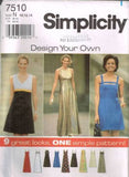 7510 Sewing Pattern Ladies Design Your Own Dress 9 Looks 10 12 14