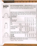 9424 Sewing Pattern Vintage Ladies Blouse Jacket Skirt 12