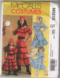 5210 Sewing Pattern McCall's Costume Girls Gypsy or Western Cowgirl 3 4 5 6 7 8