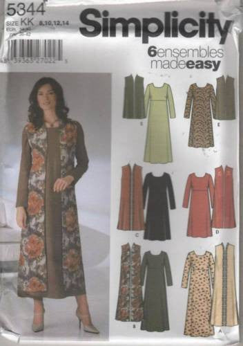 5344 Sewing Pattern Ladies Dress Duster 8 10 12 14