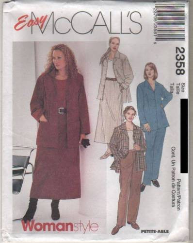 *2358 Sewing Pattern McCall's Ladies Plus Size Casual Outfit 18 20 22