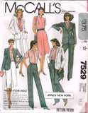 "7529 Sewing Pattern Vintage McCall's ""Jones New York"" Wardrobe 12"