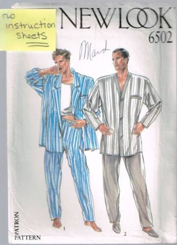 6502 Pattern New Look Mens Pajamas 36 38 40 42 44*No Instructions*