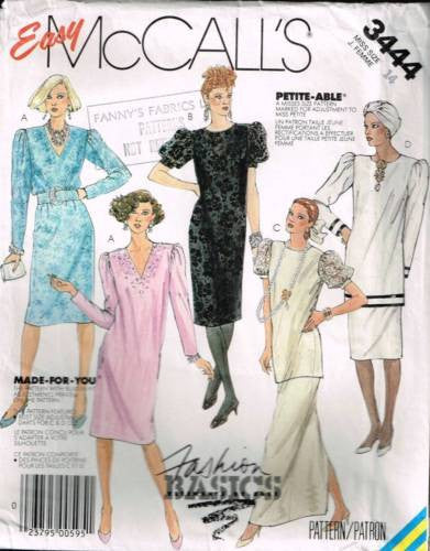 3444 Sewing Pattern Vintage McCall's Ladies Wedding Bridal Dress Tunic Skirt 14