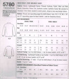 5780 Sewing Pattern Adult XS-XL & Child XS-L Fleece Jacket