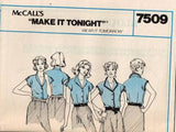 7509 Sewing Pattern Vintage McCall's Blouse 12