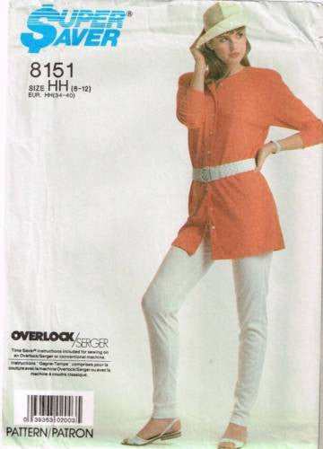 8151 Sewing Pattern Ladies Cardigan & Pull-On Pants / Leggings 6 8 10 12