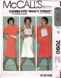 7090 Sewing Pattern Vintage McCall's Ladies Camisole Jacket Skirt 12