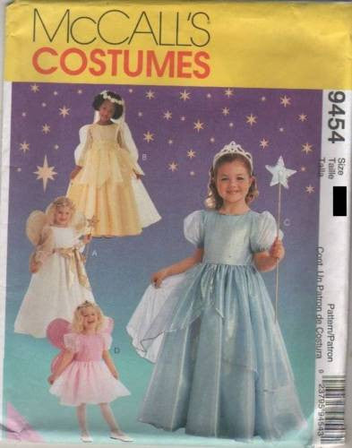 9454 Sewing Pattern McCall's Costume Girls Angel Princess Fairy 7-8
