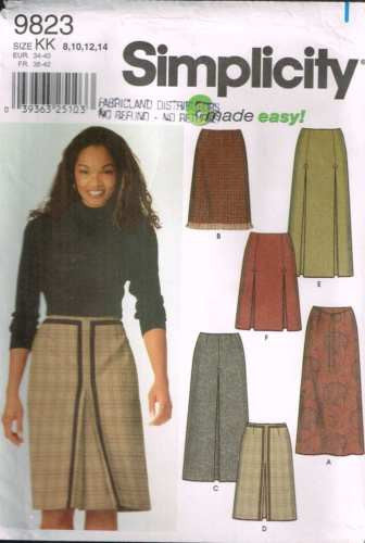 9823 Sewing Pattern Ladies Skirt with Pleats 8 10 12 14