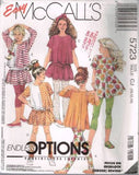 *5723 Sewing Pattern Girls Trapeze Top Skirt Leggings 10 12 14