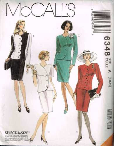 6348 Sewing Pattern McCall's Ladies Asymmetrical Jacket & Skirt 6 8 10