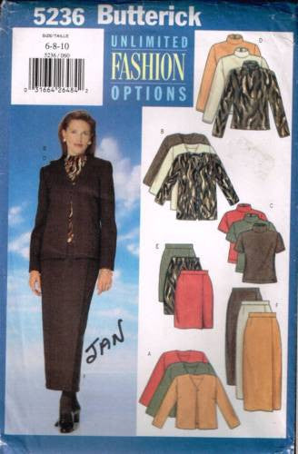 5236 Sewing Pattern Butterick Ladies Unlimited Options 6 8 10