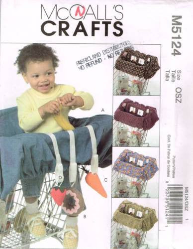5124 Sewing Pattern Baby Toddler Grocery Cart LIner and Toys
