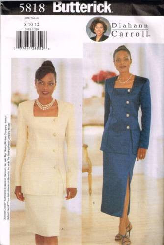 5818 Sewing Pattern Butterick Ladies Diahann Carroll Square Neck Jacket 8 10 12