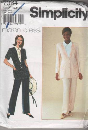 7334 Sewing Pattern Ladies Jacket and Pants 12 14 16