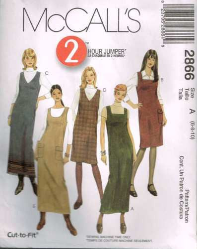 *2866 Sewing Pattern McCall's 2 Hour Jumper 6 8 10