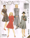 6187 Sewing Pattern McCall's Ladies Button Front Dress 8 10 12