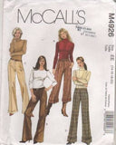 4926 Sewing Pattern McCall's Ladies Straight Legged Pants 14 16 18 20
