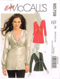 *5709 Sewing Pattern McCall's Ladies Twist Front Blouse 6 8 10 12 14