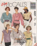4221 Sewing Pattern Vintage McCall's Simple Bouse w Variations S(10-12)