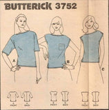 "3752 Pattern Vintage Butterick Ladies Blouse X-Small Bust 30 1/2"" Bust"